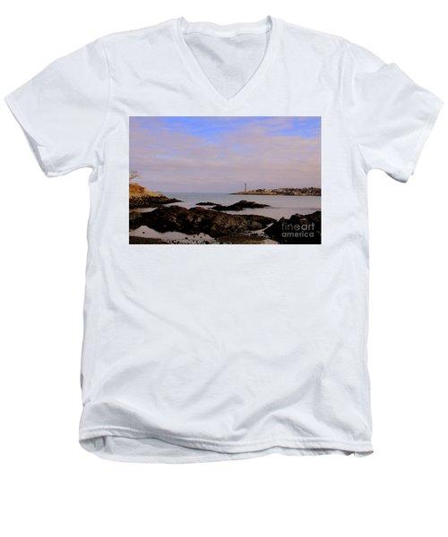 Marblehead Harbor And Light Men's V-Neck T-Shirt