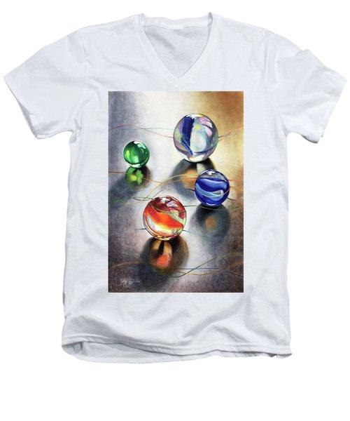Marbles 3 Men's V-Neck T-Shirt