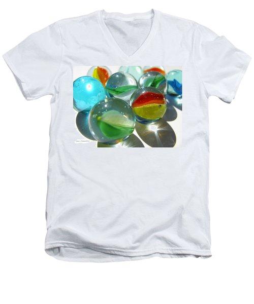 Marbles Men's V-Neck T-Shirt