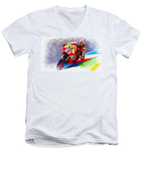 Marc Marquez Get Up Close Men's V-Neck T-Shirt