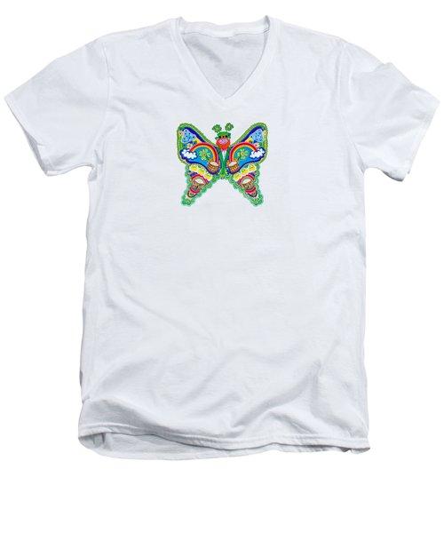 March Butterfly Men's V-Neck T-Shirt