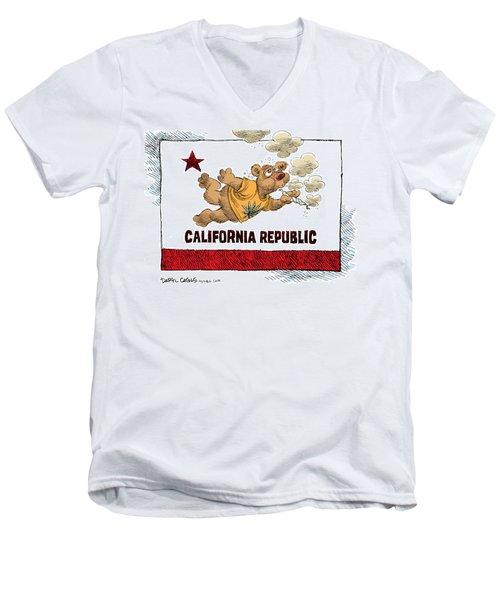Marijuana Referendum In California Men's V-Neck T-Shirt