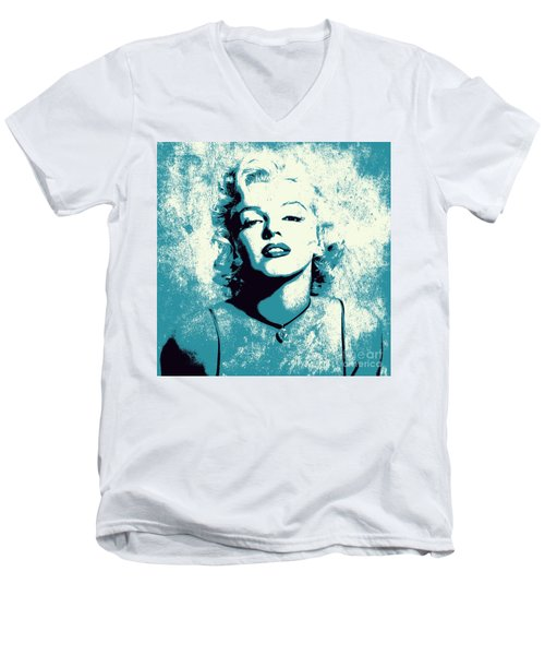 Marilyn Monroe - 201 Men's V-Neck T-Shirt by Variance Collections