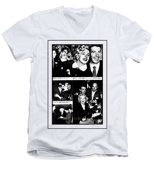 Marilyn Monroe And Joe Dimaggio 1950s Photos By Unknown Japanese Photographer Men's V-Neck T-Shirt