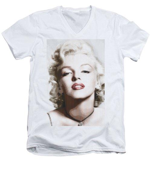 Marilyn Monroe - Colored Verticals Men's V-Neck T-Shirt