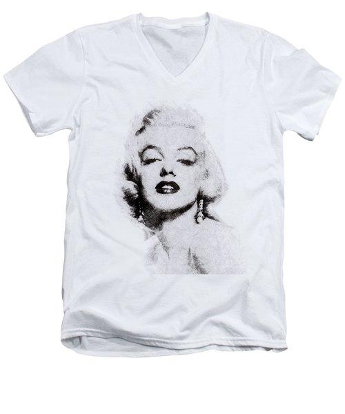 Marilyn Monroe Portrait 02 Men's V-Neck T-Shirt