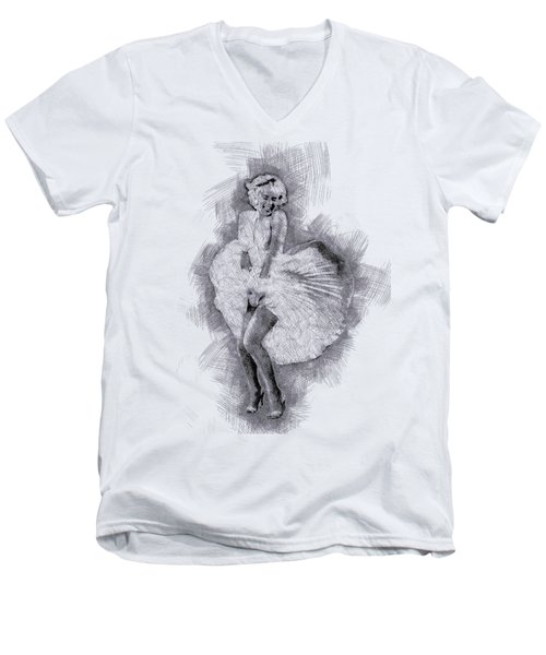 Marilyn Monroe Portrait 03 Men's V-Neck T-Shirt