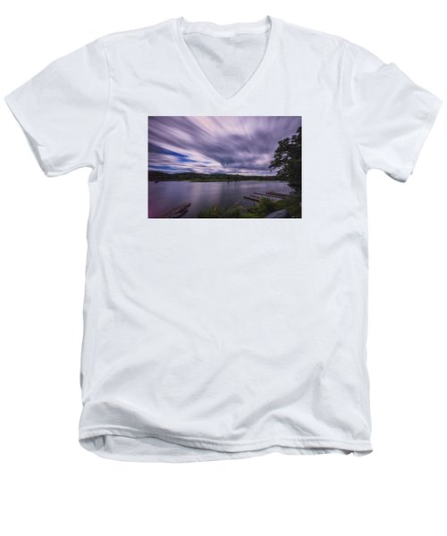 Men's V-Neck T-Shirt featuring the photograph Marina Sky by Tom Singleton