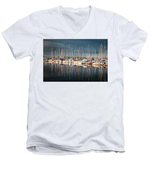 Marina Sunset 4 Men's V-Neck T-Shirt