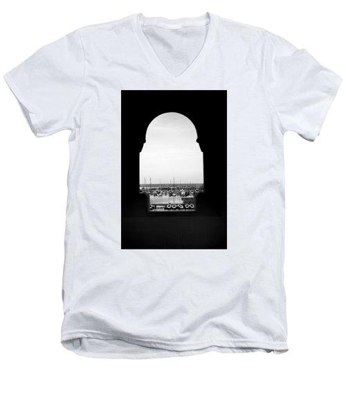 Marina Through The Window Men's V-Neck T-Shirt