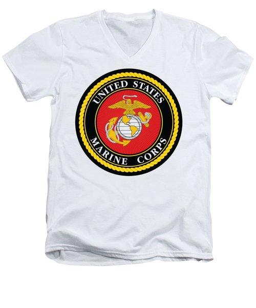 Marine Corps Seal Men's V-Neck T-Shirt