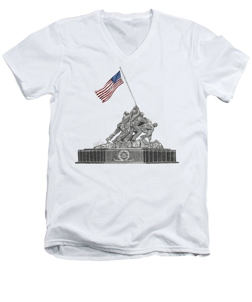 Marine Corps War Memorial - Iwo Jima Men's V-Neck T-Shirt