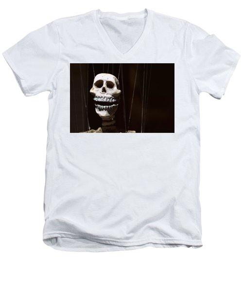 Marionette Men's V-Neck T-Shirt by Joseph Skompski