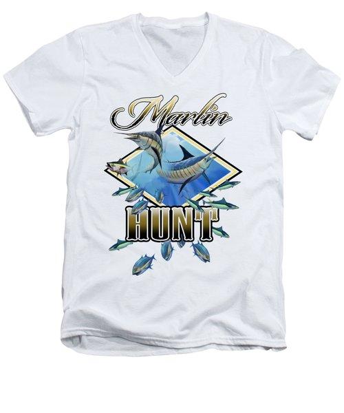 Marlin Hunt 2 Men's V-Neck T-Shirt