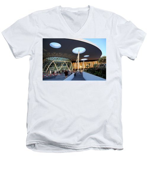 Men's V-Neck T-Shirt featuring the photograph Marrakech Airport 2 by Andrew Fare