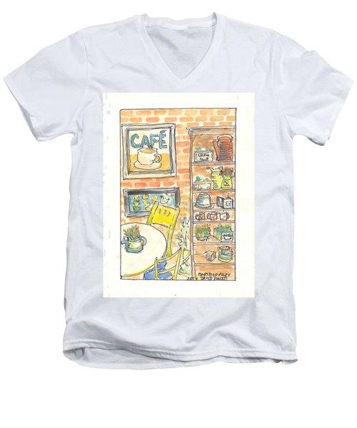 Martello Alley Men's V-Neck T-Shirt by David Dossett