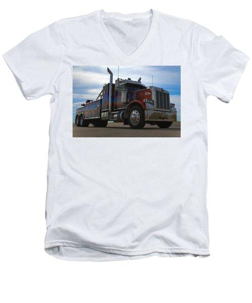 Marvins Big Rig Cars Movie Tribute Tow Truck Men's V-Neck T-Shirt