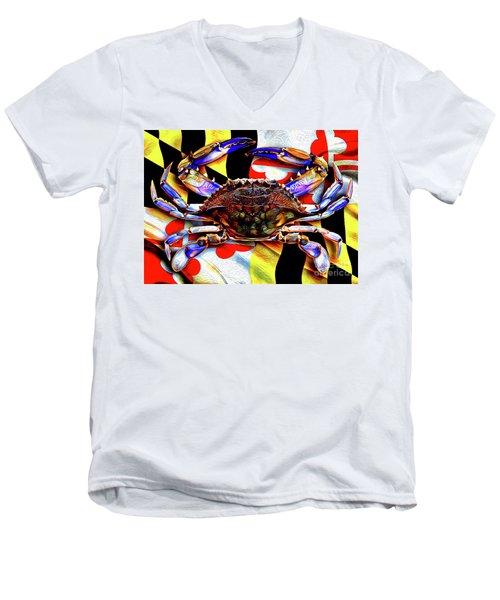 Maryland Blue Crab Men's V-Neck T-Shirt