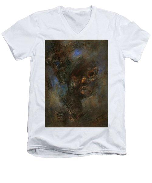 Hidden Men's V-Neck T-Shirt by Behzad Sohrabi