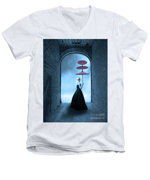 Men's V-Neck T-Shirt featuring the photograph Masquerade by Juli Scalzi