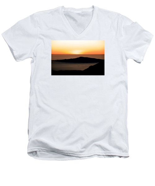 Mauna Kea Sunset Men's V-Neck T-Shirt