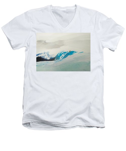 Mavericks Men's V-Neck T-Shirt by Ed Heaton