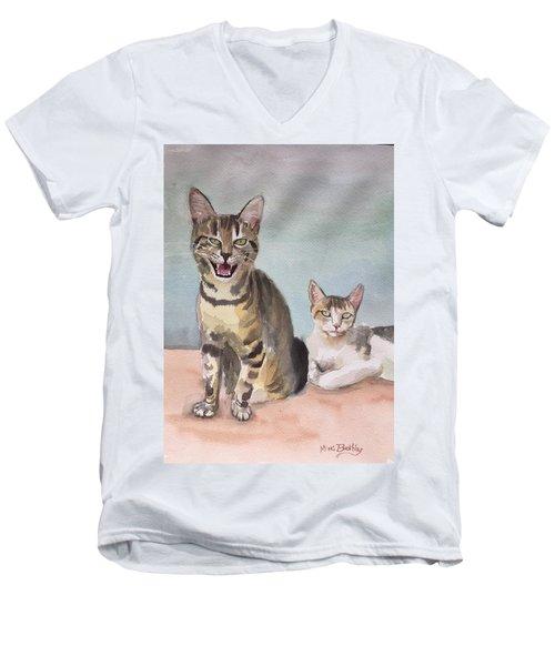 Maxi And Girlfriend Men's V-Neck T-Shirt