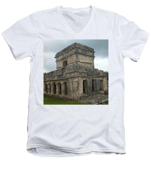 Mayan Stone Homes  Men's V-Neck T-Shirt