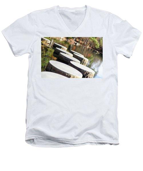 Maymont Stepping Stones Men's V-Neck T-Shirt
