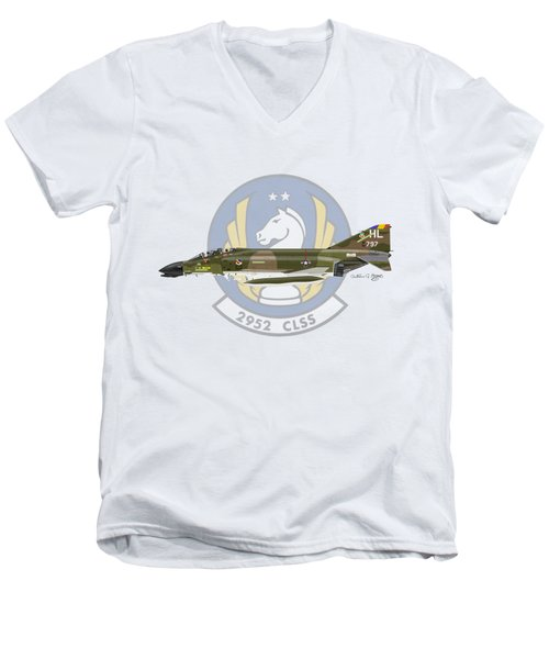 Mcdonnell Douglas F-4d Phantom II Hill Men's V-Neck T-Shirt
