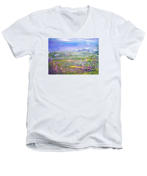 Meadow Sky By Colleen Ranney Men's V-Neck T-Shirt