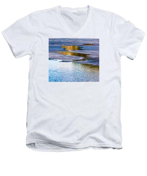 Meandering Towards Spring Men's V-Neck T-Shirt