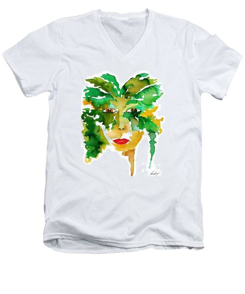 Medeina Goddess Of The Woodland Forest Men's V-Neck T-Shirt