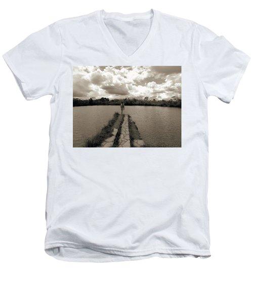 Meditation Men's V-Neck T-Shirt by Beto Machado