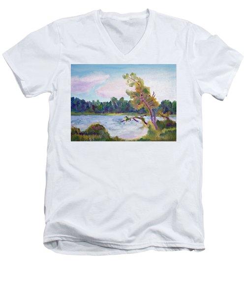 Meditation Lake  Men's V-Neck T-Shirt