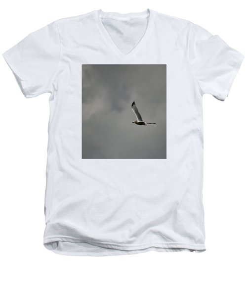 Men's V-Neck T-Shirt featuring the photograph Meet Me On The Other Side by Ramona Whiteaker