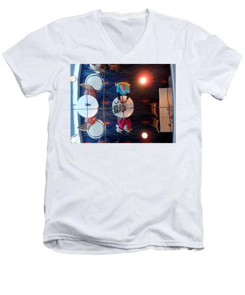 Meeting Under A Mirror Men's V-Neck T-Shirt