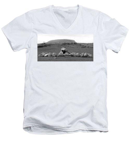 Megalithic Monuments Aligned Men's V-Neck T-Shirt