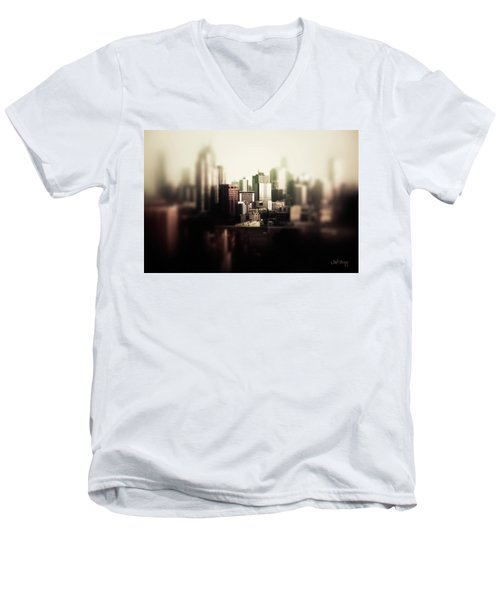 Melbourne Towers Men's V-Neck T-Shirt by Joseph Westrupp