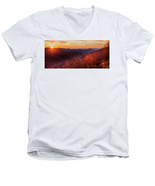 Melody Of Autumn Men's V-Neck T-Shirt by Karen Wiles