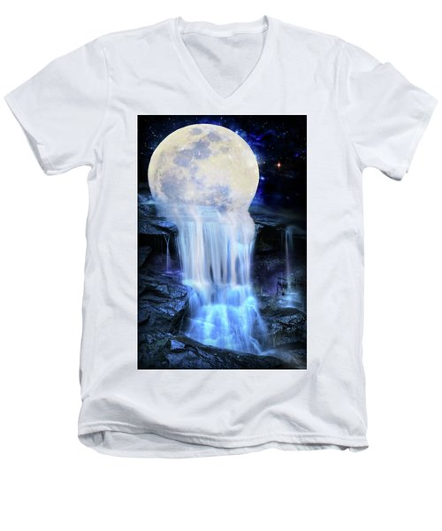 Melted Moon Men's V-Neck T-Shirt