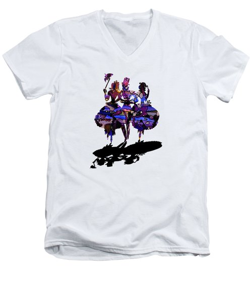 Menage A Trois On Transparent Background Men's V-Neck T-Shirt