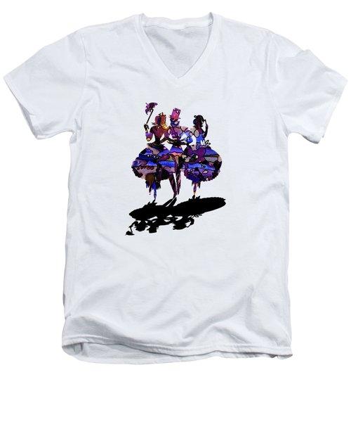 Menage A Trois On Transparent Background Men's V-Neck T-Shirt