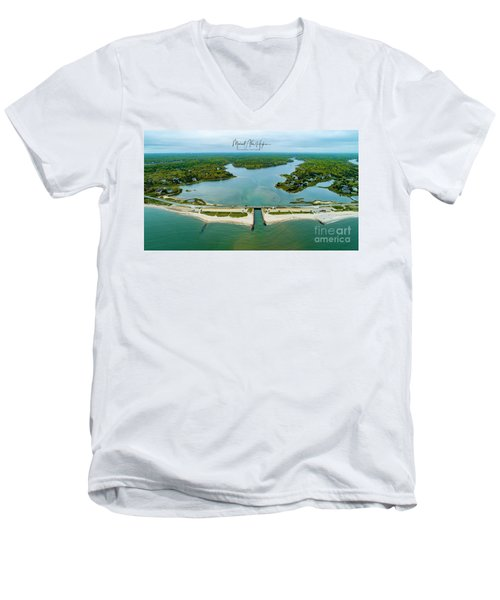 Menauhant Beach Men's V-Neck T-Shirt