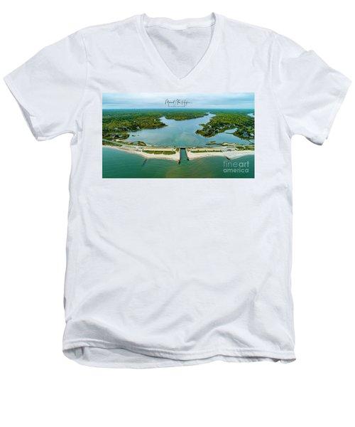 Menauhant Beach Men's V-Neck T-Shirt