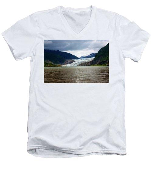 Mendenhall Glacier  Men's V-Neck T-Shirt