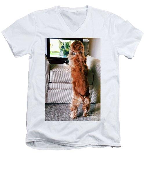 Meow Woof Men's V-Neck T-Shirt