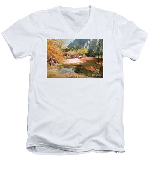 Merced River Encounter Men's V-Neck T-Shirt