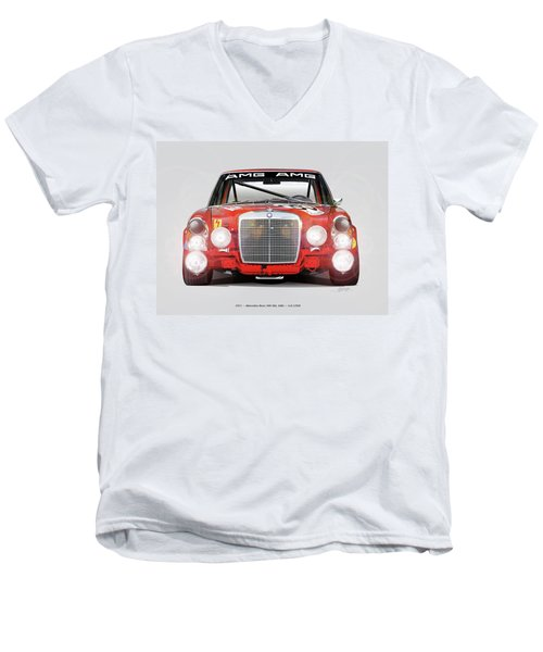 Mercedes-benz 300sel 6.3 Amg Men's V-Neck T-Shirt