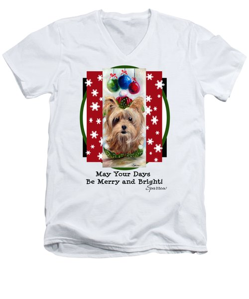Merry And Bright Men's V-Neck T-Shirt